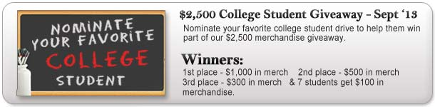 $2,500 College Giveaway