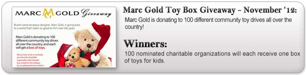 Marc Gold Toy Box Giveaway