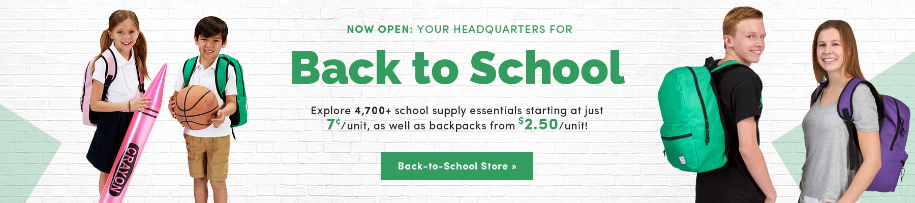 Back to School Store Launch