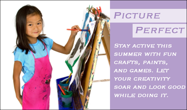 Picture Perfect Style for Girls- Get everything you need to look good while doing craft projects this Summer.