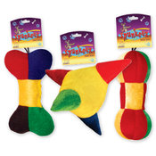Spunkeez Plush Squeak Dog Toys