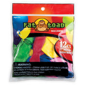 "12"" Fat Toad Assorted Balloons - 12 Count"