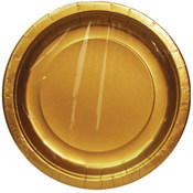 "7"" Gold Plate Round - 8 count"