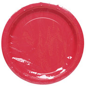 "9"" Red Plate Round - 8 count"
