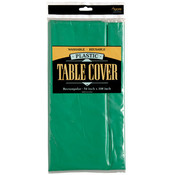 Rectangle Plastic Table Cover - Green