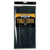 Rectangle Plastic Table Cover - Black