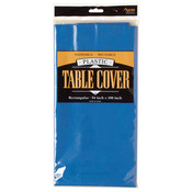 Round Plastic Table Cover - Blue