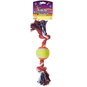 Spunkeez Rope with Mini Tennis Ball Dog Toy