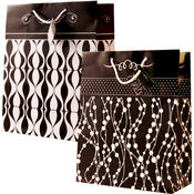 Large Black & White Gift Bags (Gloss)