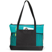 Gemline Select Zippered Tote | Turquoise