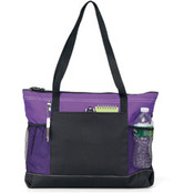 Gemline Select Zippered Tote | Purple