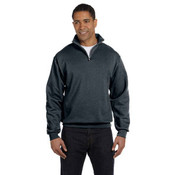 Jerzees 8 oz. - 50/50 NuBlend® Quarter-Zip Cadet Collar Sweatshirt | Black Heather - XL