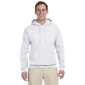 Jerzees 8 oz. 50/50 NuBlend® Fleece Pullover Hood | White - 5XL