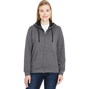 Fruit of the Loom Women's 7.2 oz. Sofspun® Full-Zip Hooded Sweatshirt - Charcoal Heather - Large