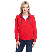 Fruit of the Loom Women's 7.2 oz. Sofspun® Full-Zip Hooded Sweatshirt - Fiery Red - Large