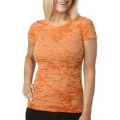 Next Level Ladies' Burnout Tee | Neon Orange - M