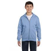 Hanes Youth 7.8 oz. ComfortBlend® EcoSmart® 50/50 Full-Zip Hood | Light Blue - XS