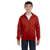 Hanes Youth 7.8 oz. ComfortBlend® EcoSmart® 50/50 Full-Zip Hood | Deep Red - XS