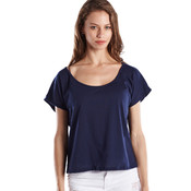 Ladies' Recycled Scoop Blouse - Indigo - S