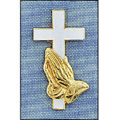 Cross/Praying Hands Pin