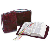 Medium Burgundy Bible Case