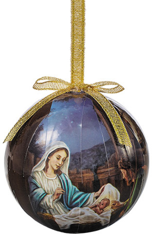 Wholesale Nativity Decoupage Ornament 6 Pk Sku 2003306