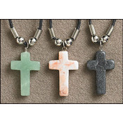 Stone Cross Pendant Assortment