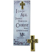 I Can Do All Things Through Christ Lapel Pin with Bookmark