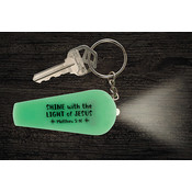 Shine with the Light of Jesus Flashlight Key Chain - 24/pk