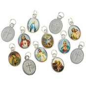 Mini Devotional Saints Medal Assortment (12 Assorted) - 144/pk