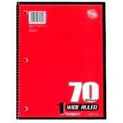 Norcom Notebooks Wide Ruled 70 Sheet 1 Subject
