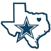 Dallas Cowboys Home State Decal