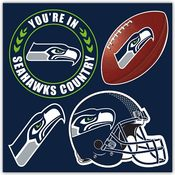 Seattle Seahawks 4 Piece Magnet Set