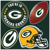 Green Bay Packers 4 Piece Magnet Set