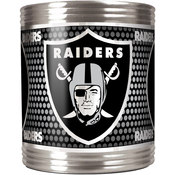 Oakland Raiders Stainless Steel Can Holder with Metallic Graphics