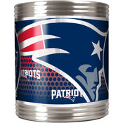 New England Patriots Stainless Steel Can Holder with Metallic Graphics