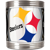 Pittsburgh Steelers Stainless Steel Can Holder with Metallic Graphics