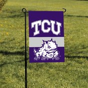 Texas Christian Horned Frogs 2-Sided Garden Flag