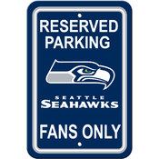 Seattle Seahawks Plastic Parking Sign - Reserved Parking
