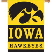 "Iowa Hawkeyes   2-Sided 28"" X 40"" Banner with Pole Sleeve"