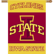 "Iowa State Cyclones 2-Sided 28"" X 40"" Banner with Pole Sleeve"