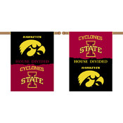 "Iowa - Iowa State 2-Sided 28"" X 40"" Banner with Pole Sleeve House Divided"