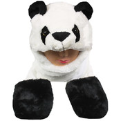 Panda Animal Winter Hat With Mittens