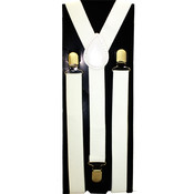 Men's White Suspenders