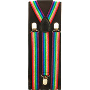 Men's Sparkly Rainbow Colored Suspenders