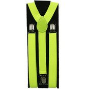 Men's Yellow Neon Suspenders