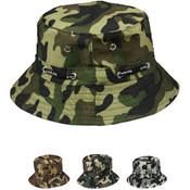 Children's Four Color Camouflage Summer Hat