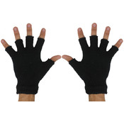 Black Fingerless Winter Gloves