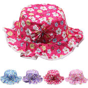Children's Floral Bucket Summer Hat with Bow