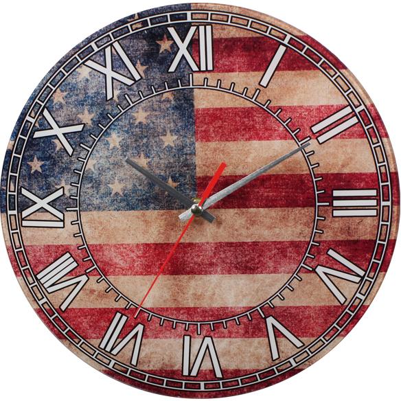 Wholesale Vintage American Flag Wall Clock Sku 1989614
